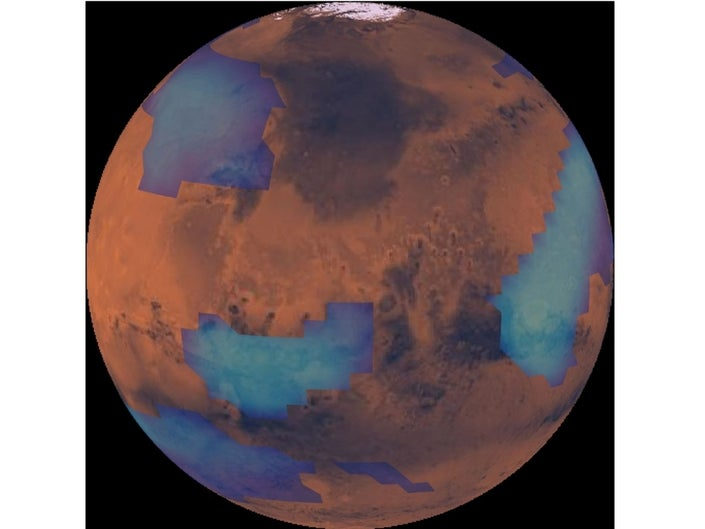 Mars Give a Rise to Smokey Clouds After Meteors Crashes into It