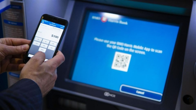 How might clients pull out cash from versatile wallets at ATMs?